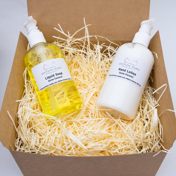 GIFT BOX for LIQUID SOAPS, HAND LOTIONS, BATH & SHOWER PRODUCTS (does not include contents)