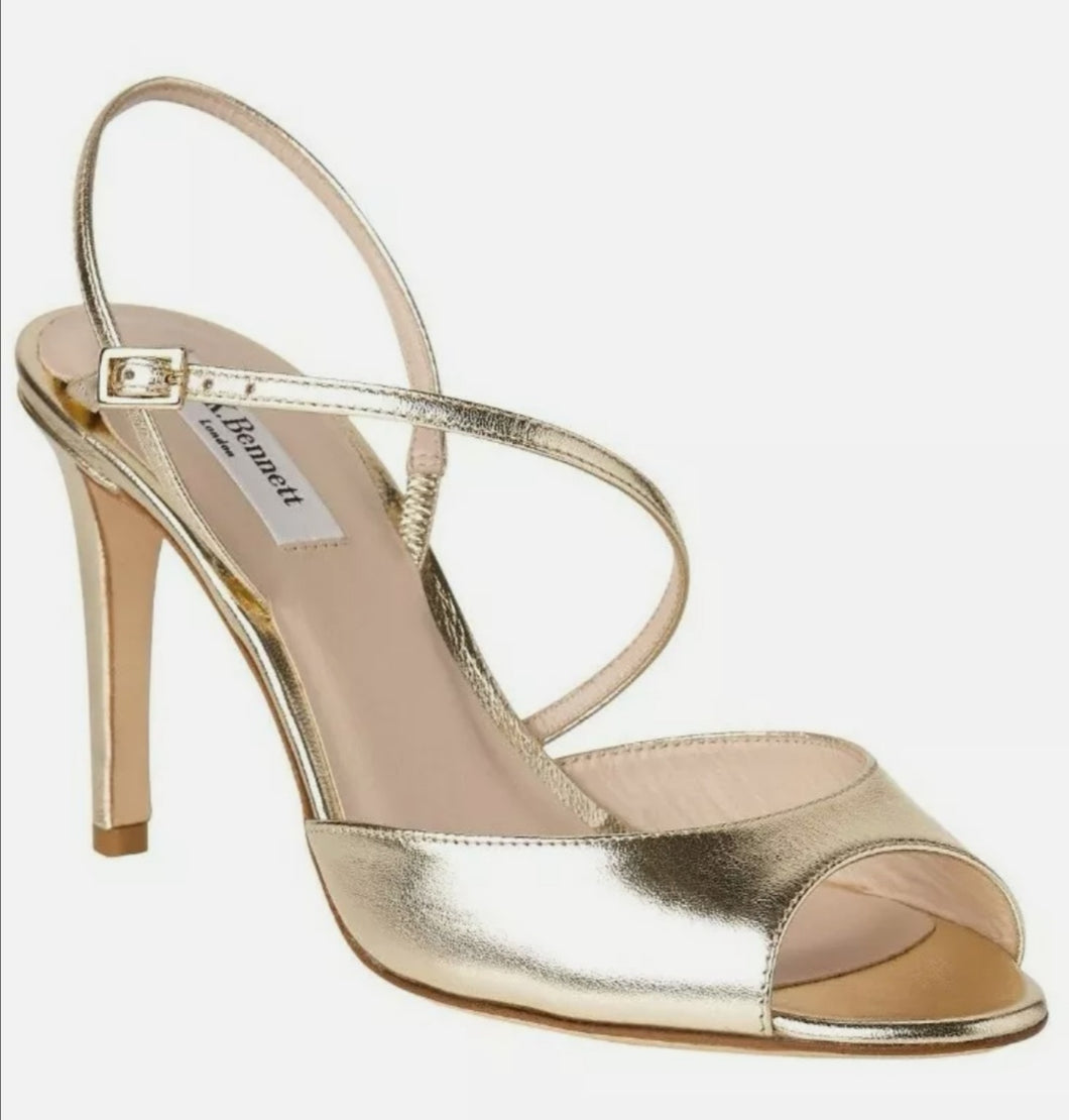 L.K. Bennett Camilla Peep Toe Stiletto Sandals