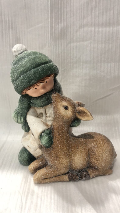 Child w/ Deer Figurine: Sitting-2