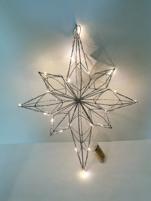 Silver Wire Star w/ LED