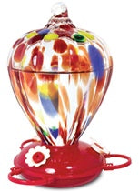 Art Glass Hummingbird FeederBalloon