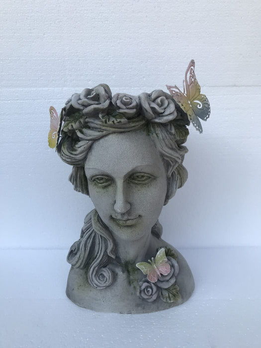 Greek Planter w/ Rose Wreath