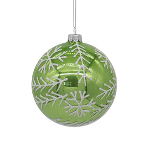 Green Glass Ball Tree Ornament