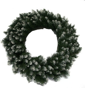 Snow White Christmas Wreath - 24""