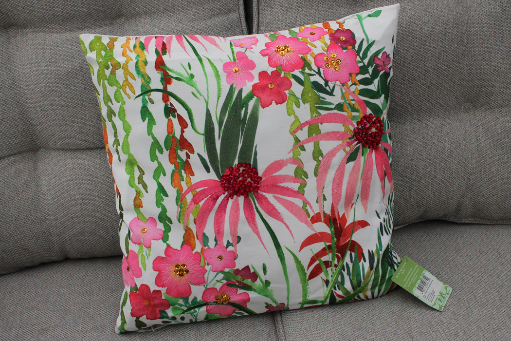 Outdoor Safe Canvas Pillow Floral Prints