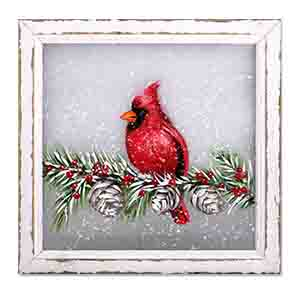 Cardinal on Branches Wall Hanging