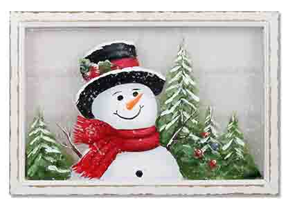 Snowman Smiling Wall Hanging
