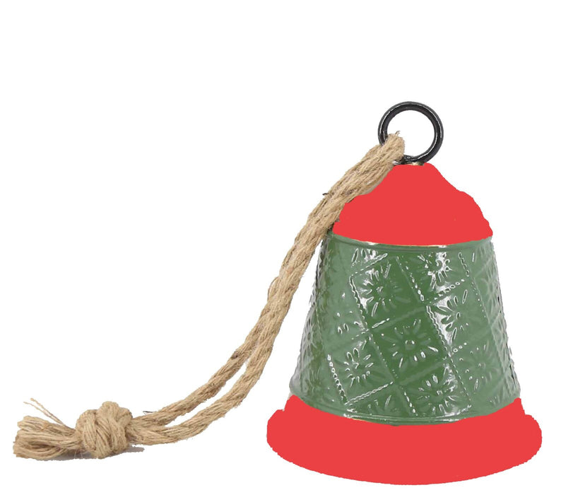 Green and Red Iron Bell