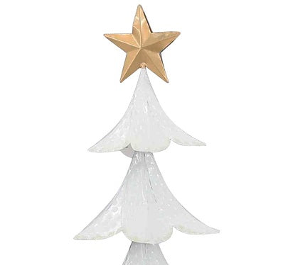 White Gold and Black Christmas Tree