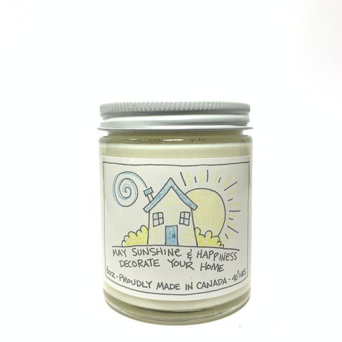 May Sunshine & Happiness Decorate You Home Candle