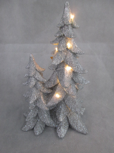 Silver Shimmery Tree w/ Bright LED