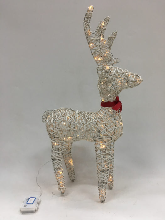 White Reindeer with LED Lights - 120 LEDs