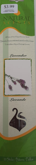 "Natural Scents Lavender 11"" sticks pack of 20"