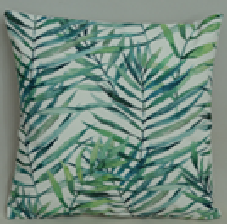 Fern Leaf  Outdoor cushion,multi color,double side printing