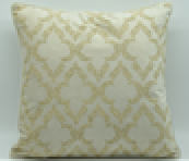 Gold with Pattern  Square cushion, single side