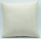 White Solid  Square cushion, single side
