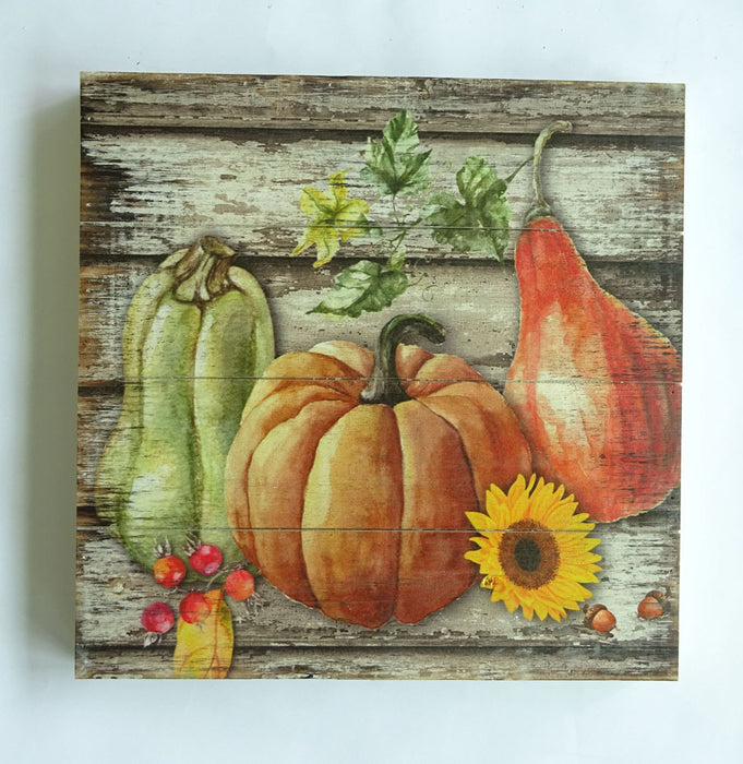Pumpkins - Wooden Decoration