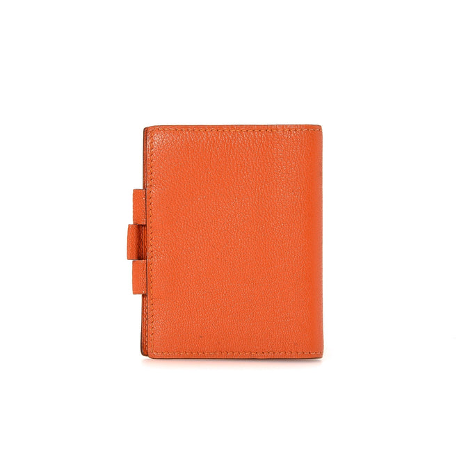 Hermes Orange Agenda Cover Wallet