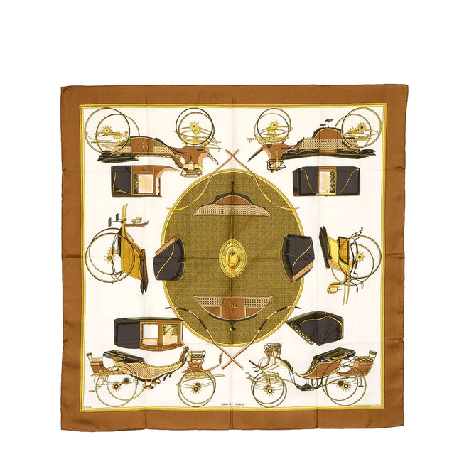 Hermes Multi Les Voitures a Transformation Silk Scarf