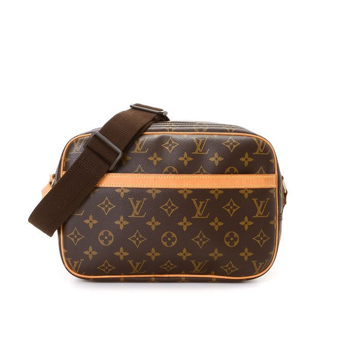 Louis Vuitton Brown Monogram Reporter PM Crossbody Bag