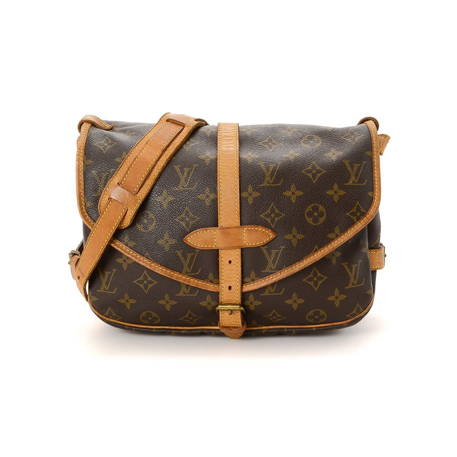 Louis Vuitton Brown Monogram Croissant MM Crossbody Bag
