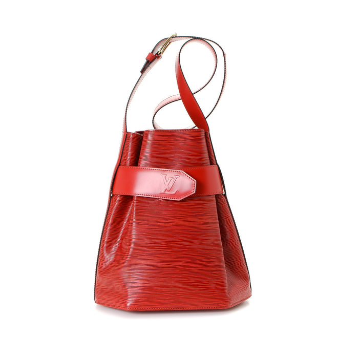 Louis Vuitton Red Epi Leather Sac d'epaule PM Bucket Bag