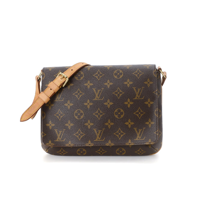 Louis Vuitton Brown Monogram Musette Tango Short Shoulder Bag