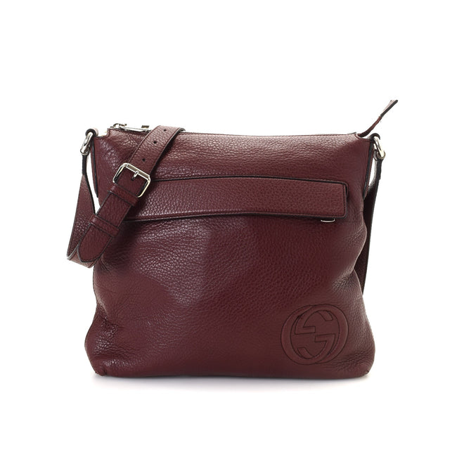 Gucci Bordeaux Leather Crossbody Bag