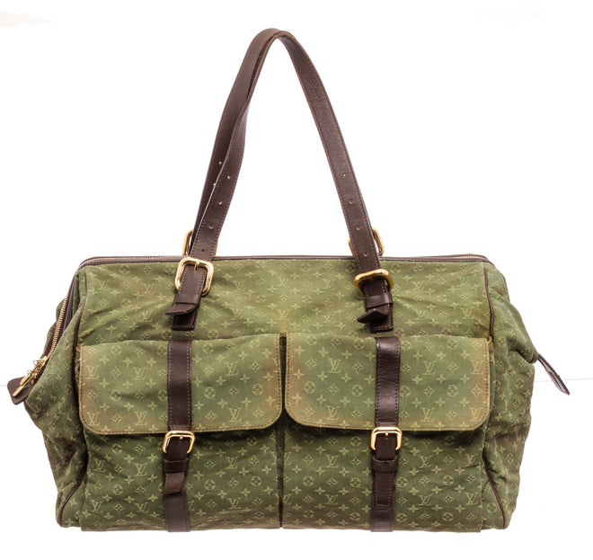 Louis Vuitton Green Mini Lin Louise Luggage and Travel Bag