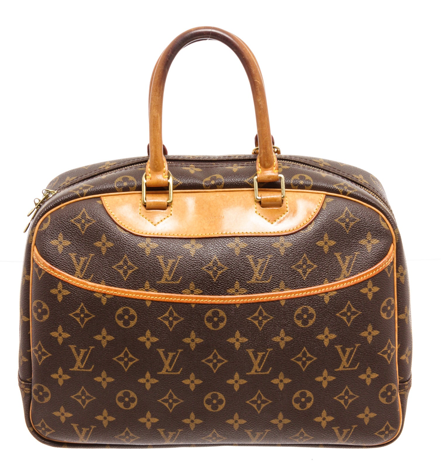 Louis Vuitton Brown Monogram Deauville Handbag
