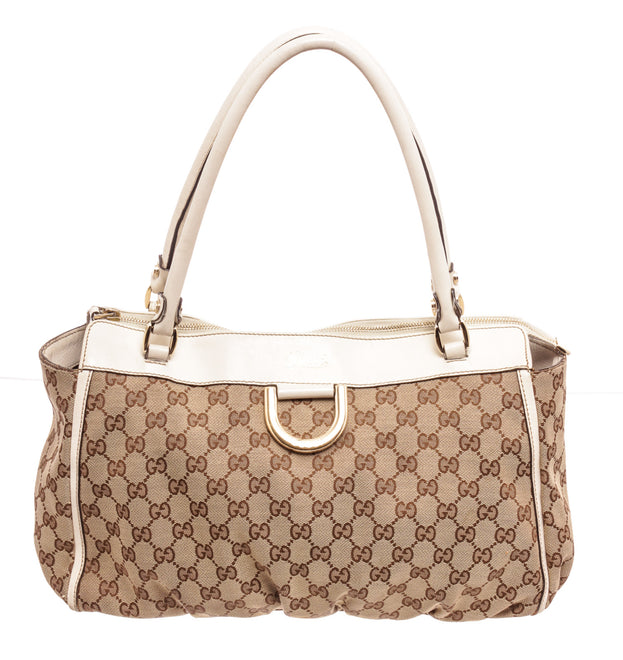 Gucci Brown Canvas D Tote Bag
