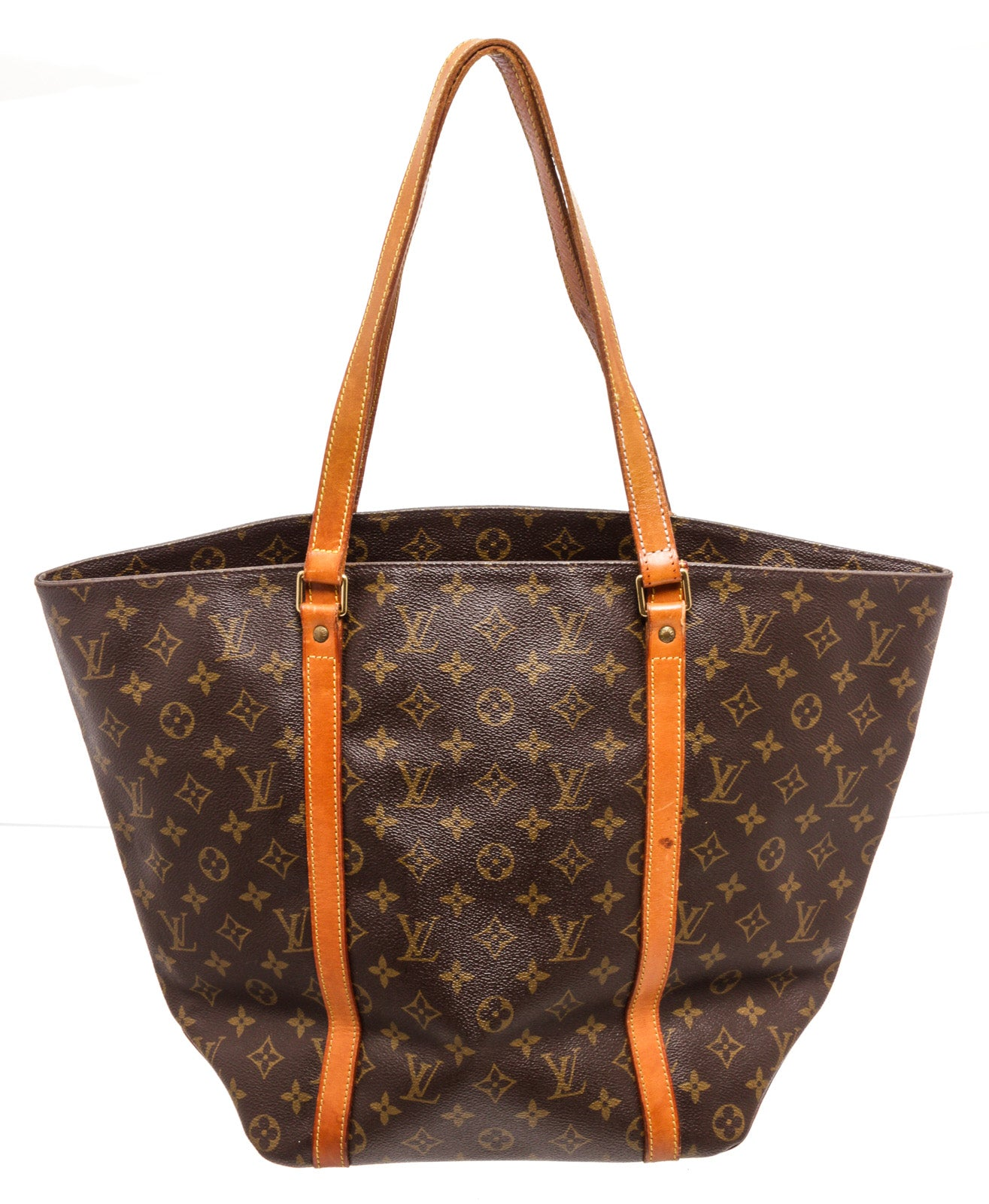 Louis Vuitton Brown Monogram Sac Shopping Handbags