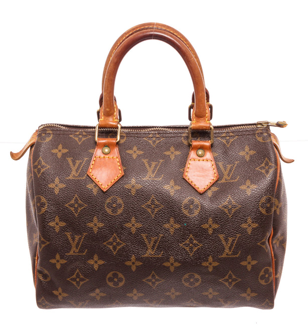 Louis Vuitton Brown Monogram Speedy 25cm Satchel Bag