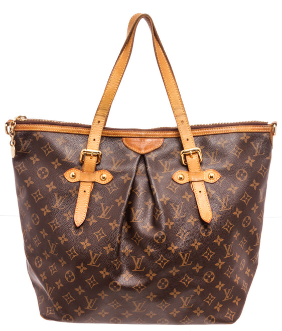 Louis Vuitton Brown Palermo GM Tote Bag