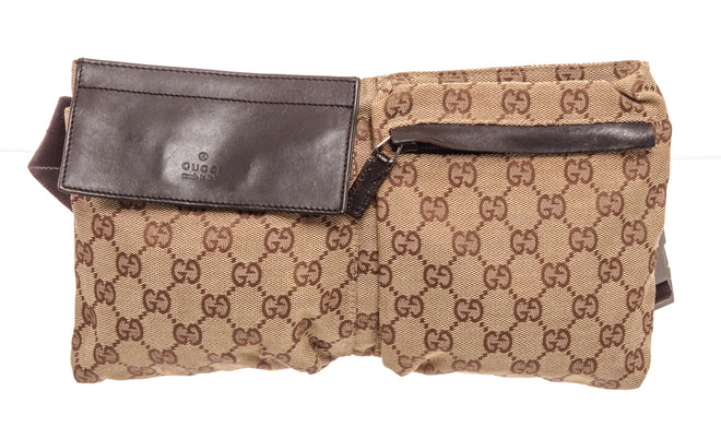 Gucci Brown Leather Waist Bag