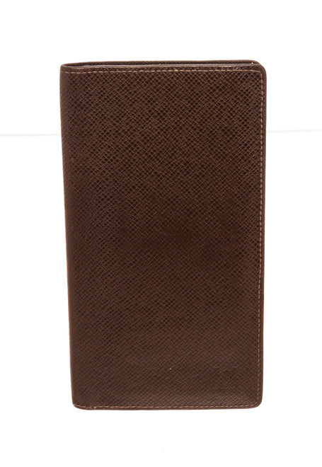 Louis Vuitton Brown Canvas Leather Long Card Wallet
