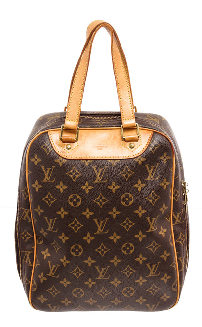 Louis Vuitton Brown and Tan Monogram Excursion Shoe Bag