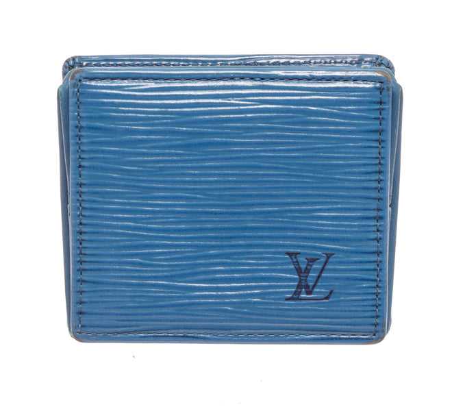 Louis Vuitton Blue Epi Leather Boite Coin Case Wallet