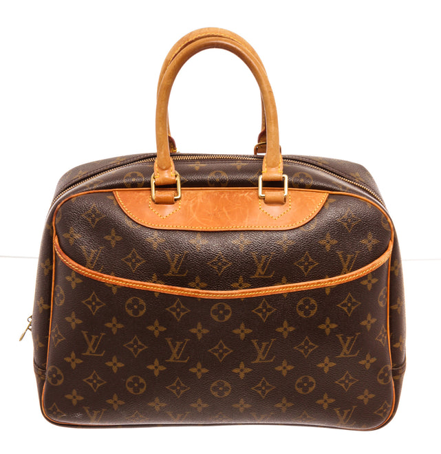 Louis Vuitton Brown Deauville Satchel Bag