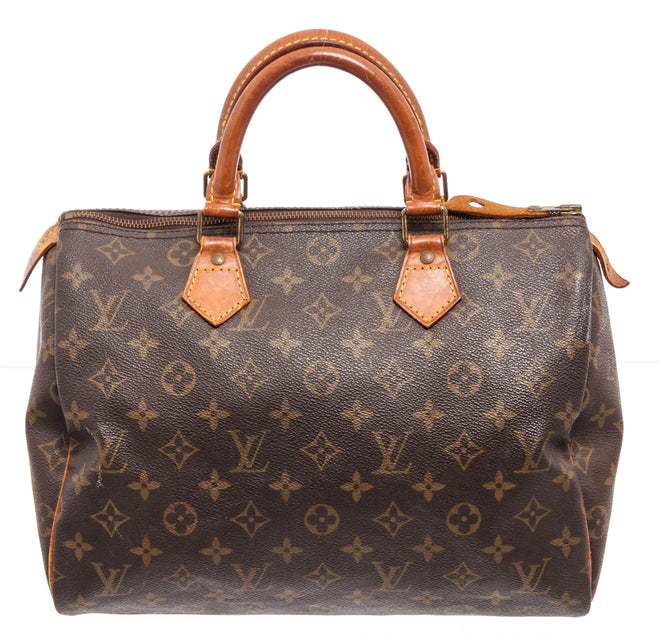 Louis Vuitton Brown Monogram Epi leather Speedy 30cm Satchel Bag