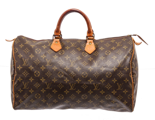 Louis Vuitton Brown Monogram Epi leather Speedy 40cm Travel Bag