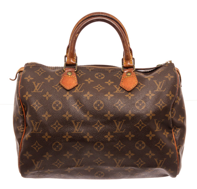 Louis Vuitton Brown Speedy 30cm Satchel Bag