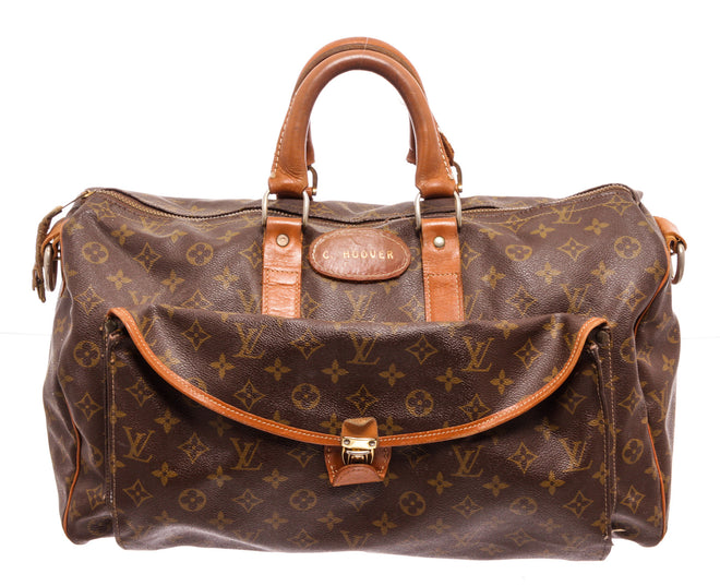 Louis Vuitton Brown Monogram Vintage Keepall Travel Bag