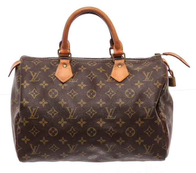 Louis Vuitton Brown Monogram Canvas Speedy 30cm Satchel Bag