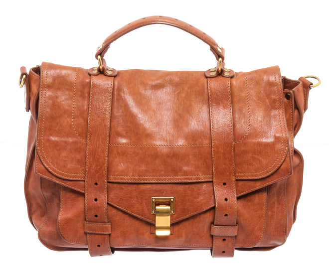 Proenza Brown Leather Schouler Messanger Bag