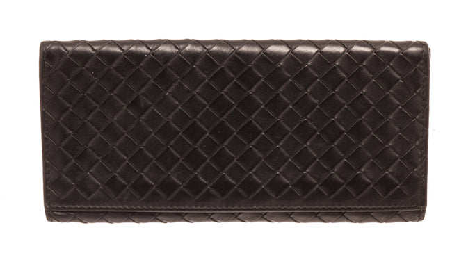 Bottega Venetta Black Leather Breast pocket Wallet