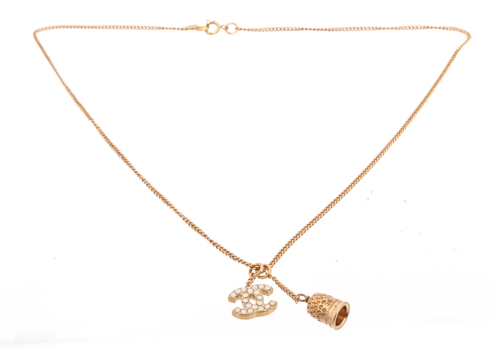 Chanel Gold Bell Necklace