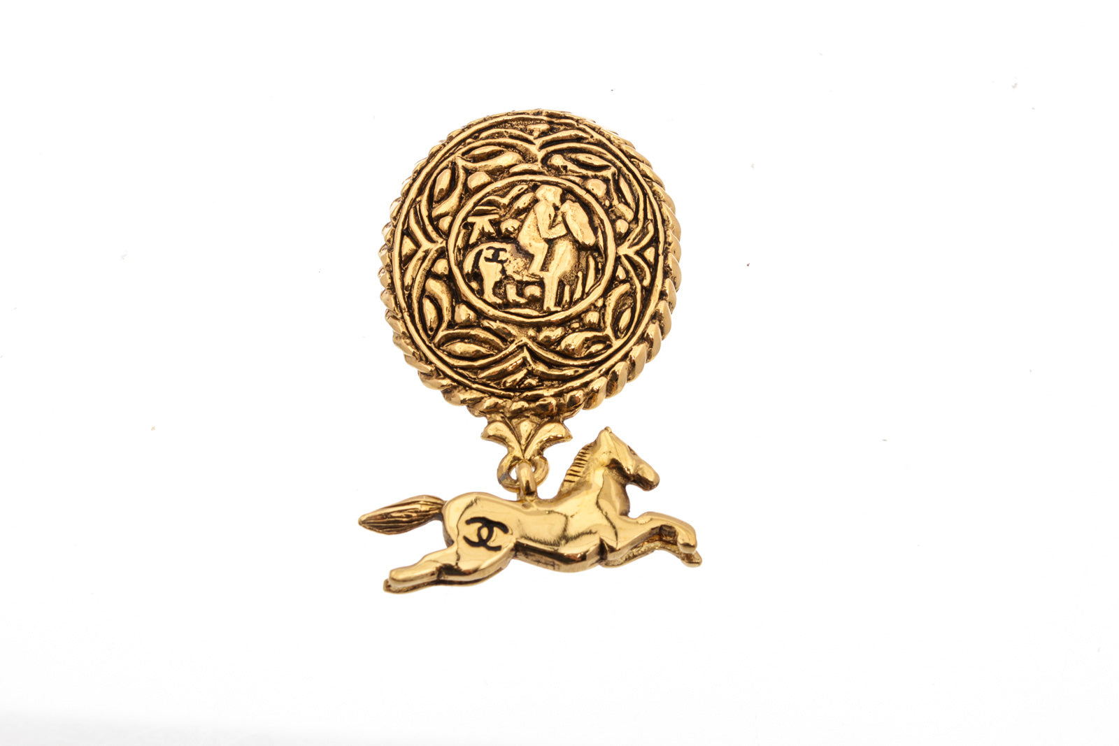 Chanel Gold Horse Brooch