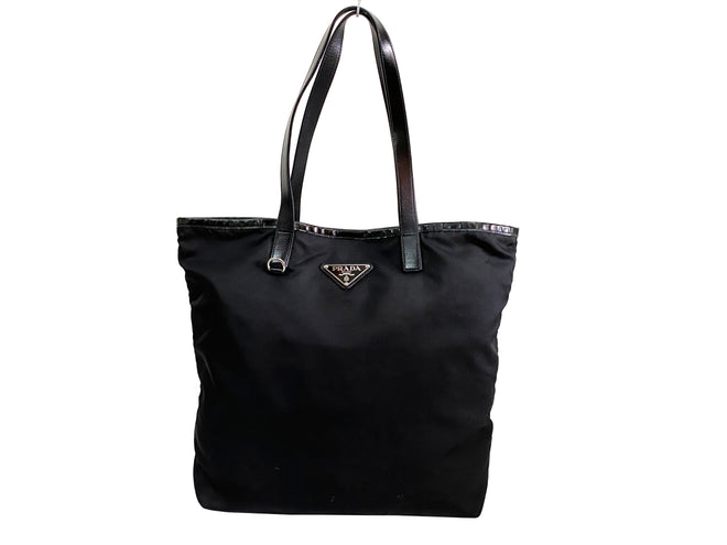Prada Black Nylon Tessuto City Tote Bag