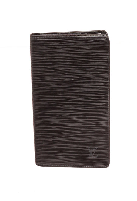 Louis Vuitton Black Epi Leather Passport Agenda Wallet